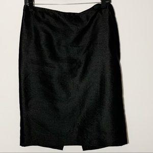 Dana Buchman 100% Silk Black Pencil Skirt